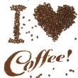 I Love Coffee! — Stock Photo