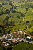 Aerial view of residential area — Stockfoto
