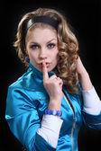 Sweetie girl in bright jacket — Stock Photo