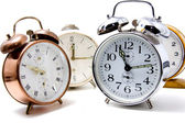 Several alarm clocks — ストック写真
