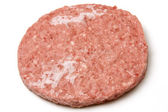 Frozen raw hamburger — Stock Photo