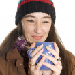 Stock Photo: Woman drinking tea