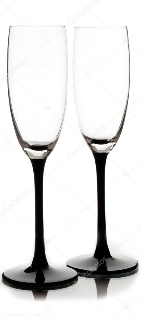 Champagne glass clear isolated on white   Stock Photo #3480930