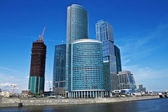 Moscow city; russian centre of trade and business — Stock Photo