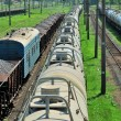 Stock Photo: Train tanks and wagons