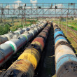 Transports tanks with oil — Stock Photo #3607882