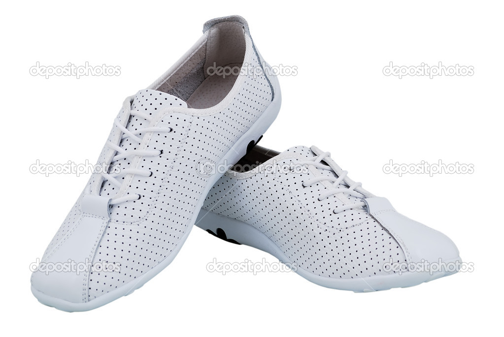 Women's sports shoes on a white background — Stock Photo #3699559