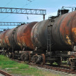 Train transports old tanks — Stock Photo #3855959