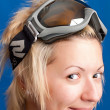 Girl in ski glasses — Stock Photo