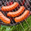 Fried sausages - Foto Stock