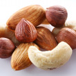 Nuts on a white background — Stock Photo