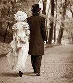 Gentleman & lady — Stock Photo