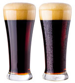 Black beer — Stock Photo