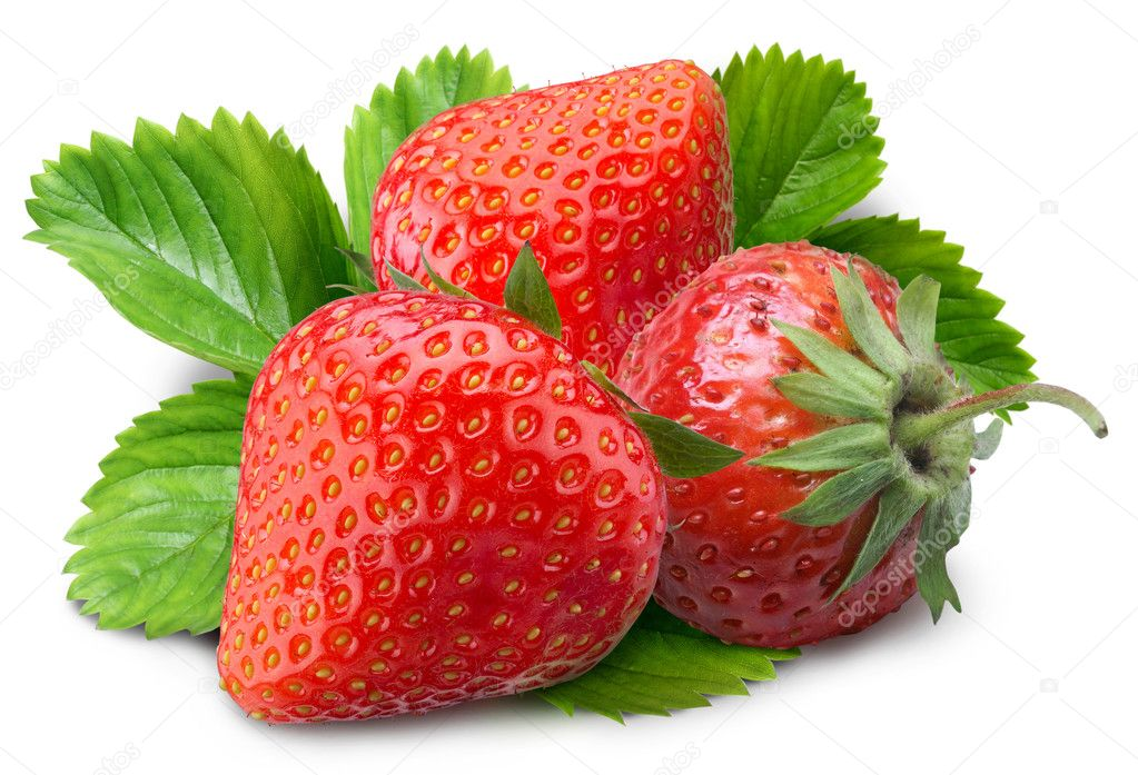 Strawberry on a white background  Stock Photo #3415468