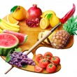 Stock Photo: Fruit palette