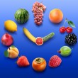 Fruit clock — Stock Photo