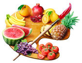 Fruit palette — Stock Photo