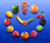 Fruit clock — Stock Photo