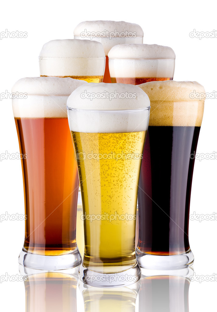 Glasses with beer  Stock Photo #3440536