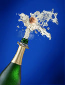 Sparks of champagne — Stock Photo
