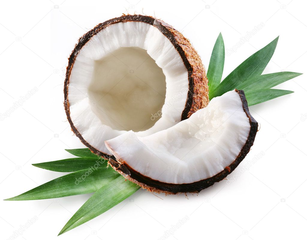 Coconut on a white background — Stock Photo #3598215