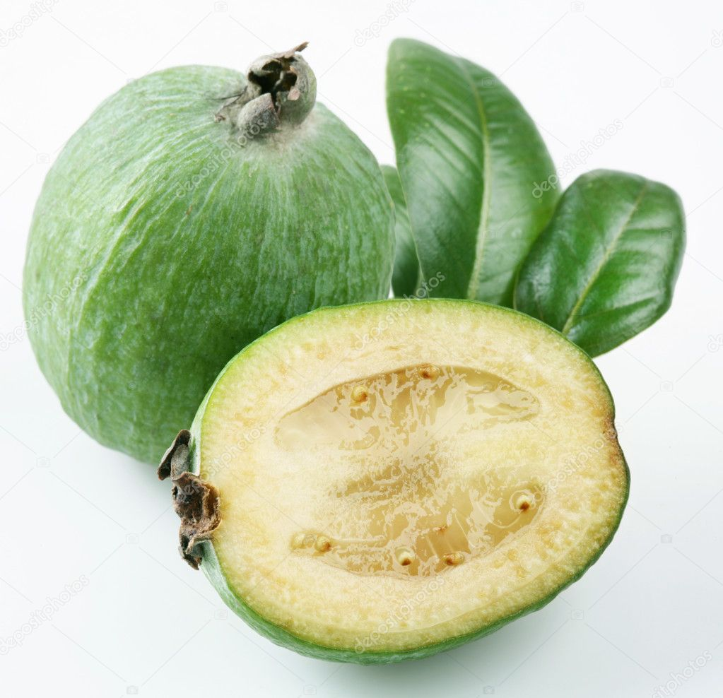 Feijoa on a white background — Stock Photo #3598790