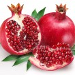 Stock Photo: Pomegranate on white background
