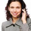 Stock Photo: Smiling customer support operator with headset.