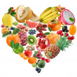 Fruit heart - Stock Photo