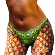 Girl body made from fruits - Stock Photo