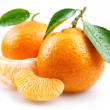 Stock Photo: Tangerine with segments.