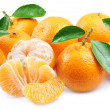 Tangerines with segments. — Stock Photo