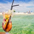 Cocktail on a beach - Stock Photo