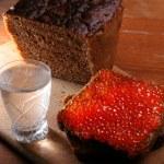 Caviar & vodka — Stock Photo