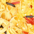 Back projected (lighted) macaroni (pasta) — Stock Photo