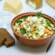 Homemade variant of Russian Salad — Stock Photo
