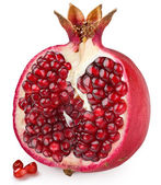 Half of pomegranate on a white background — Stock Photo
