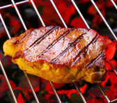 Steak on a grill — Stock Photo
