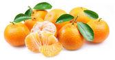 Tangerines with segments. — Stock Photo