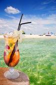 Cocktail on a beach — Stock Photo