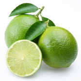 Lime with section on a white background — Stock Photo