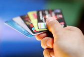 Kredi kartları — Stok fotoğraf