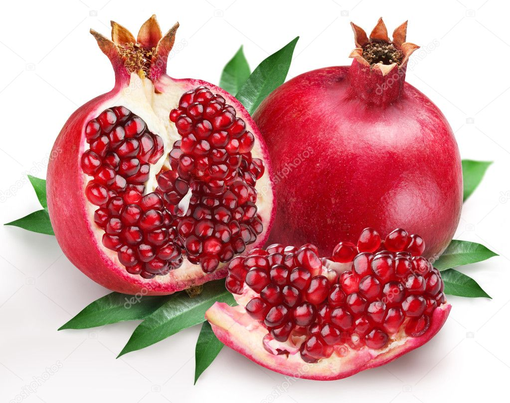 Pomegranates on a white background — Stock Photo #3602720