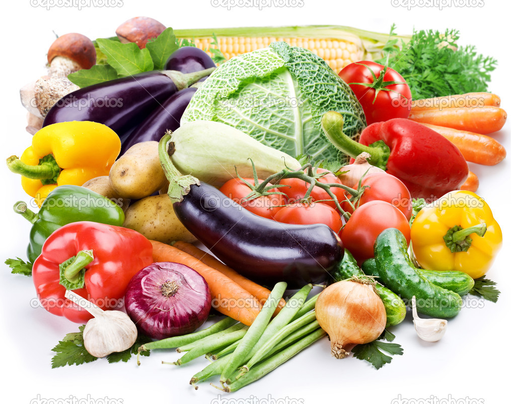 Vegetables on a white background  Stock Photo #3609143