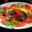 Meat with a vegetables - Stockfoto