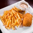 Rissole with a potato fry — Stock Photo