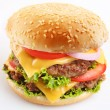 Cheeseburger on white background — Stock Photo #3625742