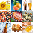 "Collection of images on the theme of ""food"" — Stock Photo"