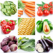 Collection of images on the theme of vegetables — Stock Photo