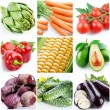 Royalty-Free Stock Photo: Collection of images on the theme of vegetables